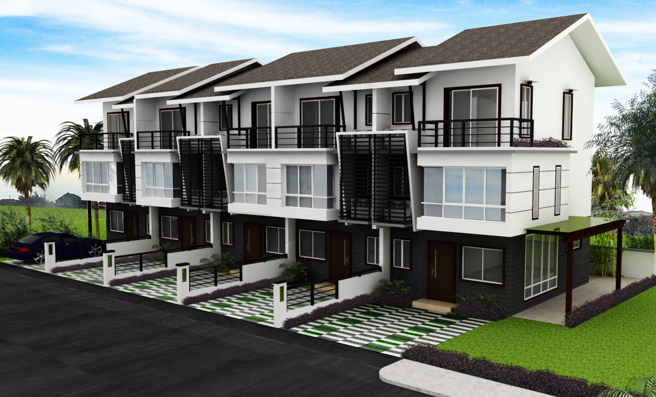 Mahogany place iii cielo duplex 4 bedroom bare for rent for Modern residential homes