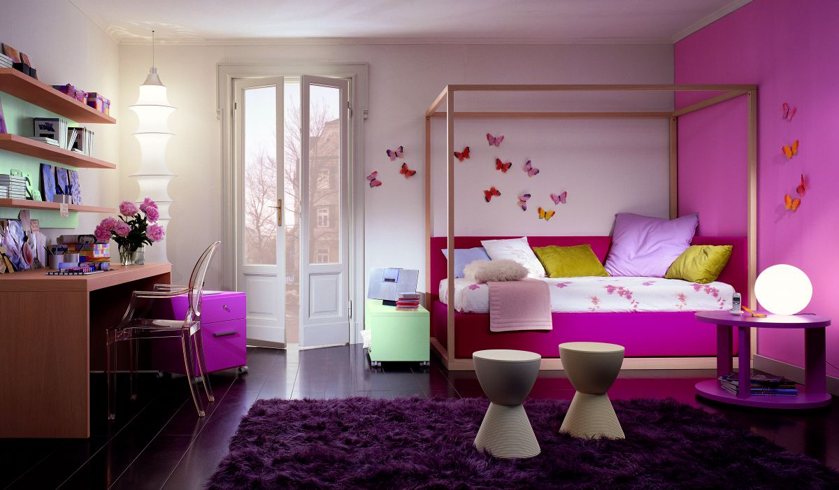 cute kids bedroom with mosaic