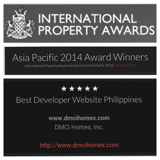 DMCI Homes, Inc., Best Developer Website 2014