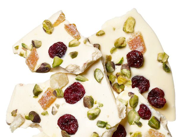 Pistachio-Cranberry-Candied Orange Bark