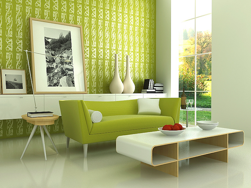 budget decor green prints and decor