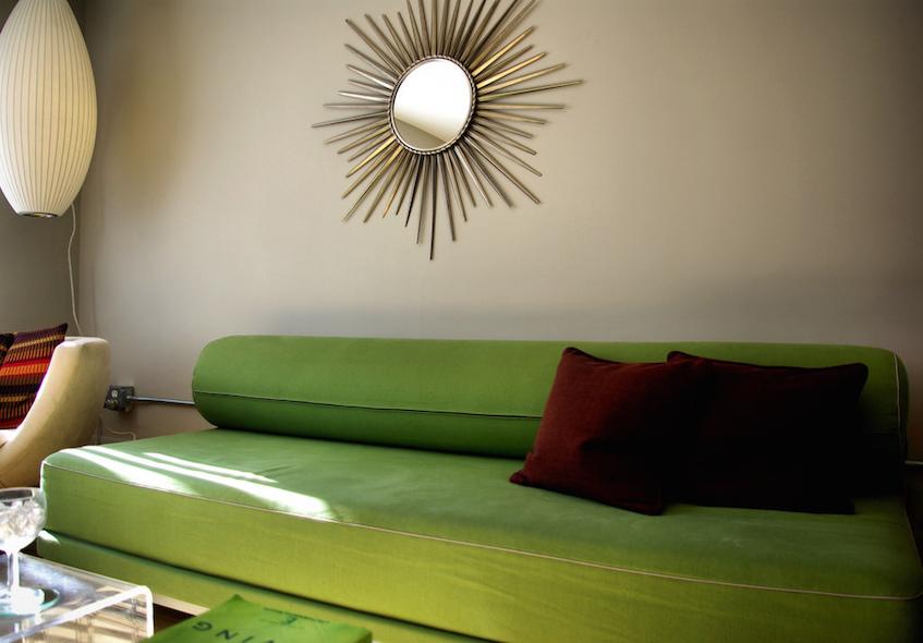 budget decor vibrant living room