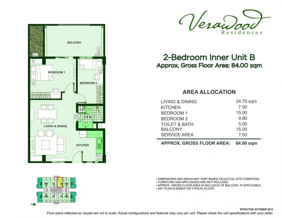 Verawood Residences – 2 Bedrooms, Semi-furnished building view