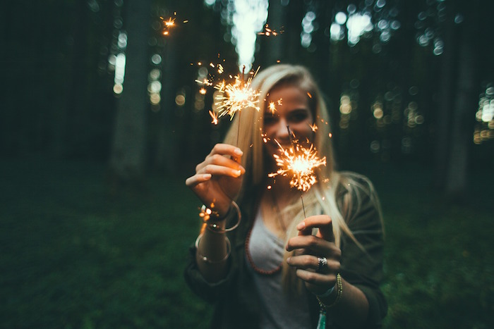 Congratulate with Cheers and Sparklers