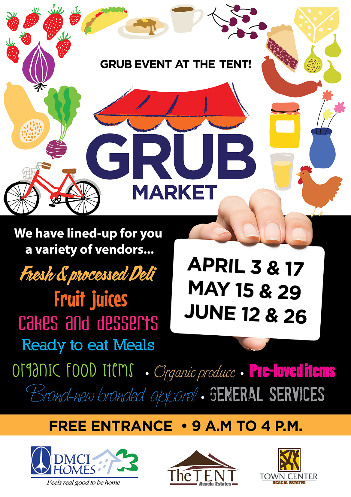 Forks Up for Grub Market at The Tent!