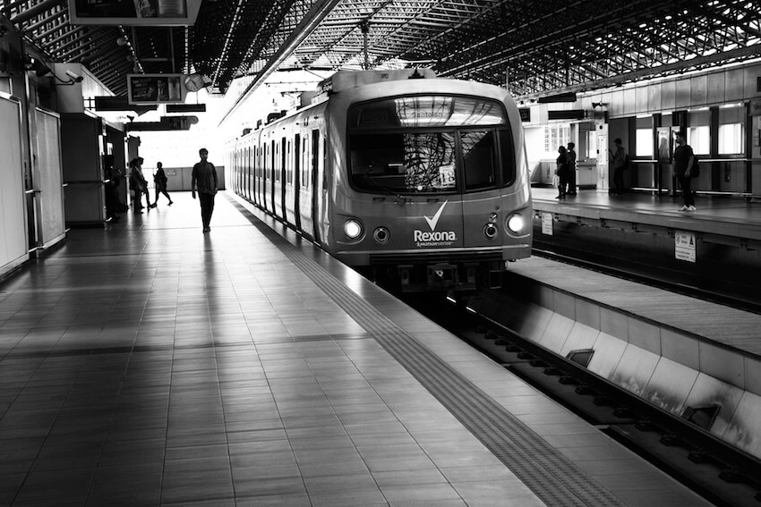 Light rail transit in Metro Manila City Philippines