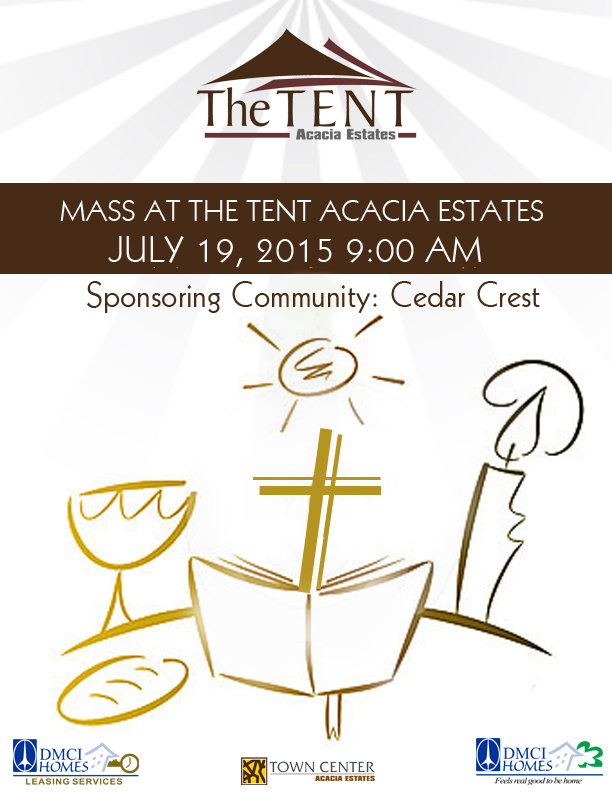 The Tent Acacia Estates Holy Mass