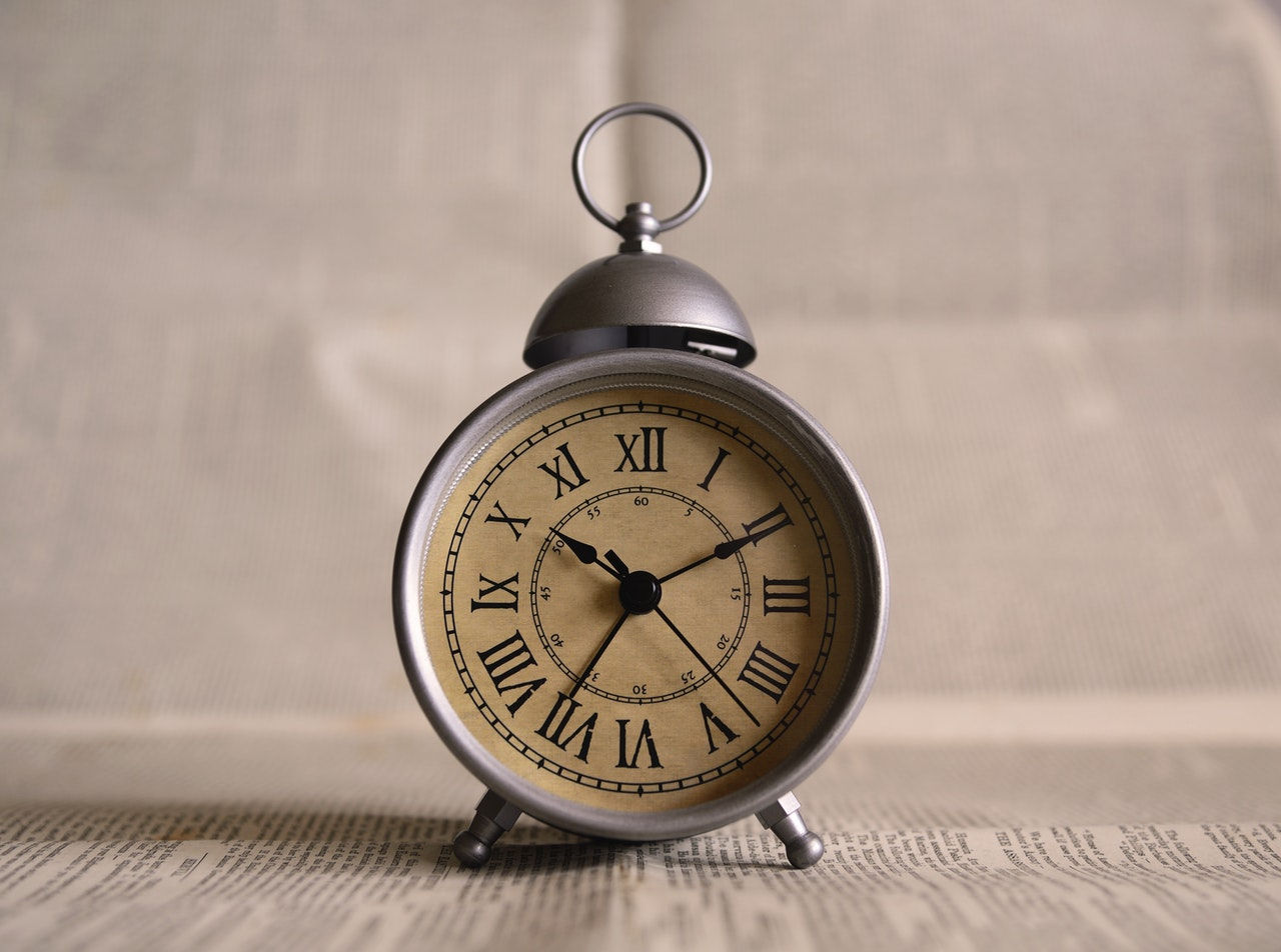 alarm clock antique background