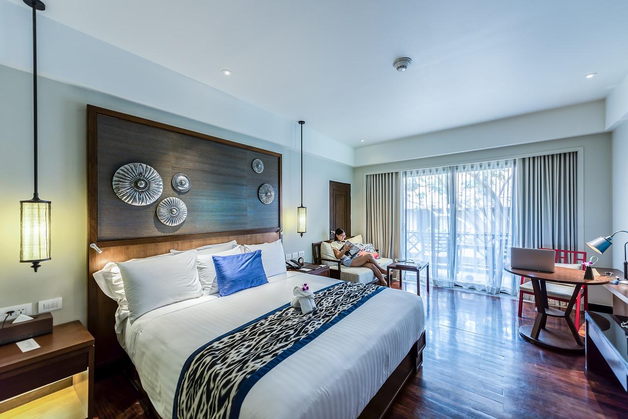apartment bedroom glam