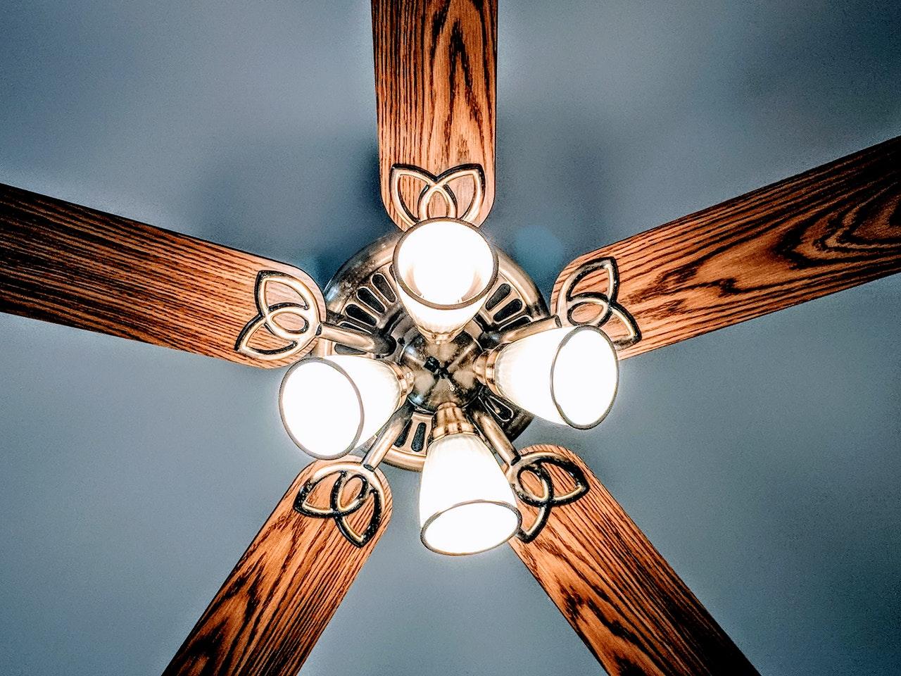 art ceiling fan color