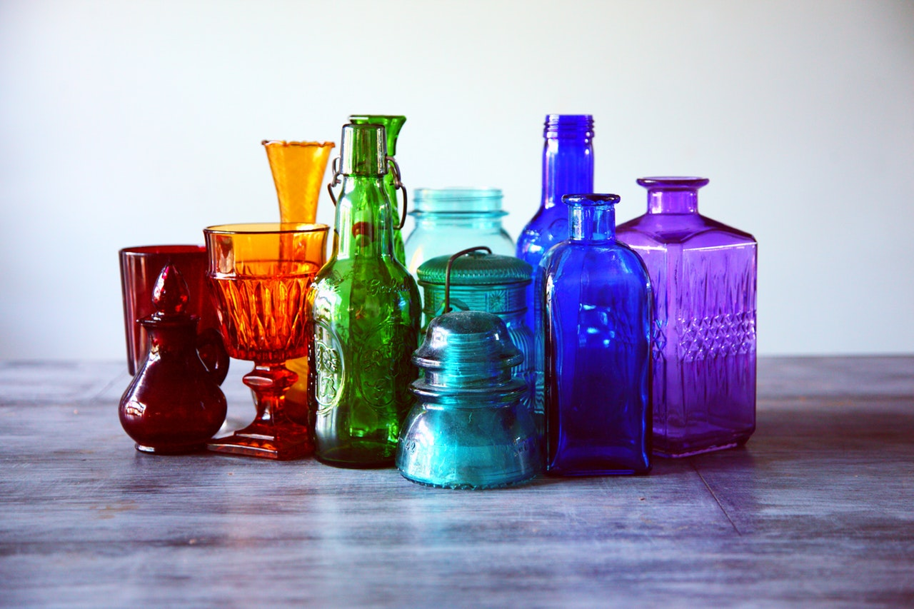assorted bottles bright