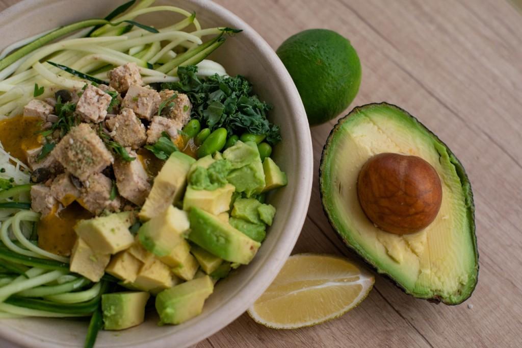 avocado crab stick salad