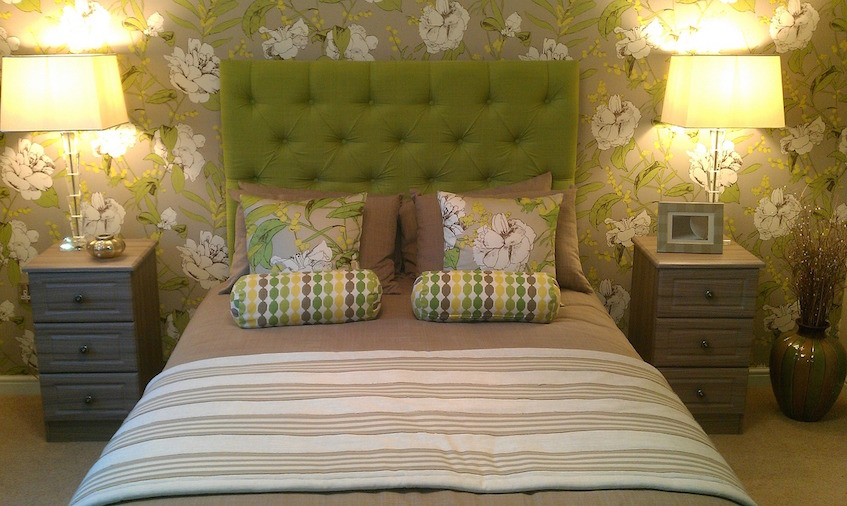 budget decor green bedroom