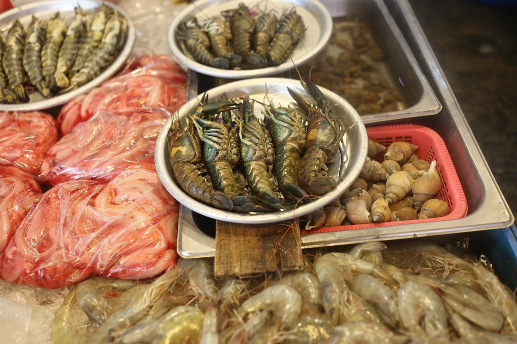 fresh sea food in Philippines