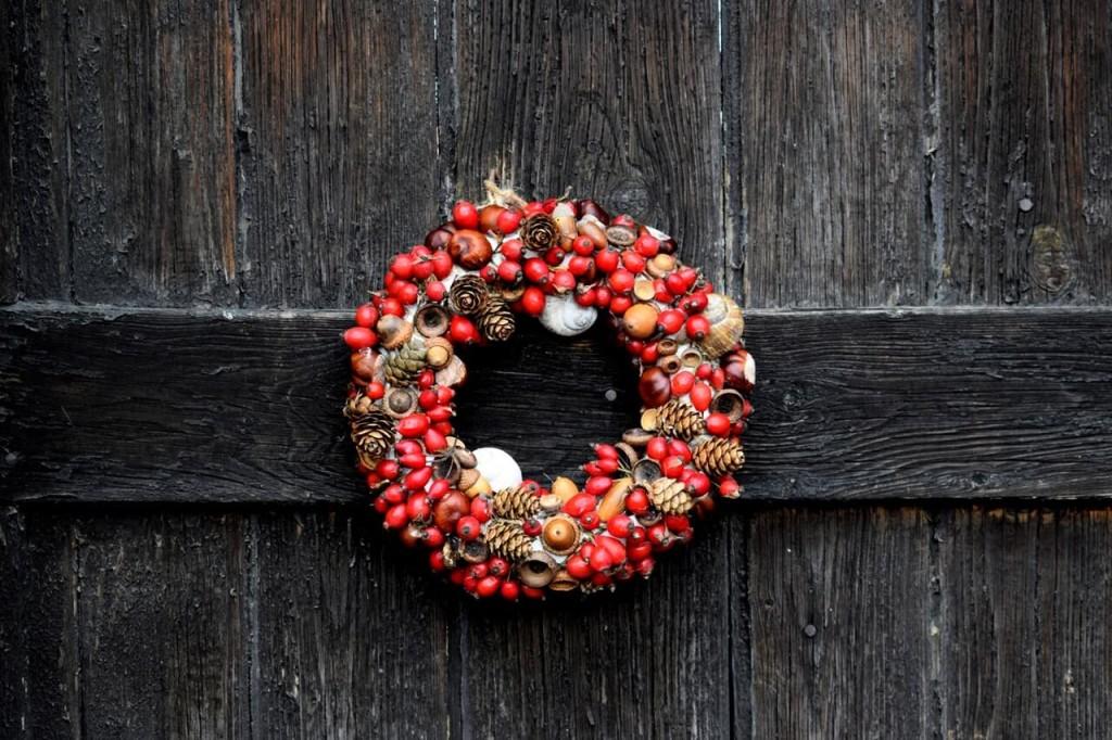 geometric shaped wreaths