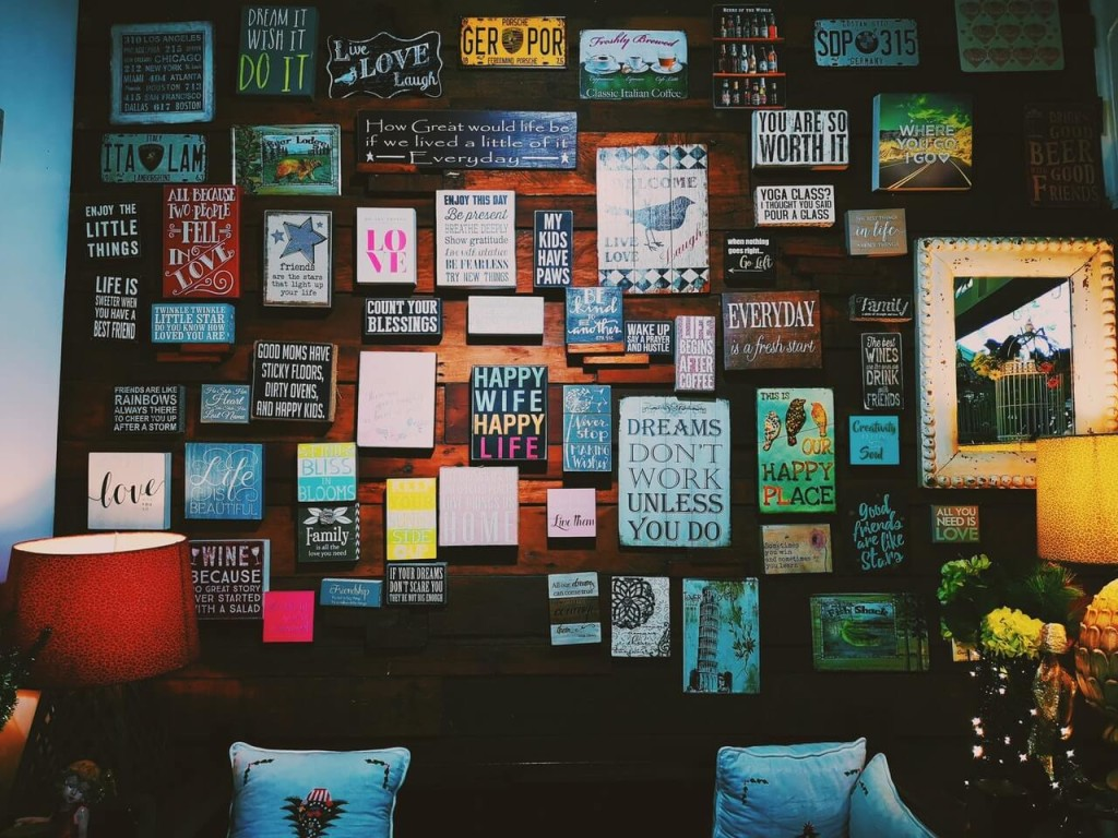 hang photos wall