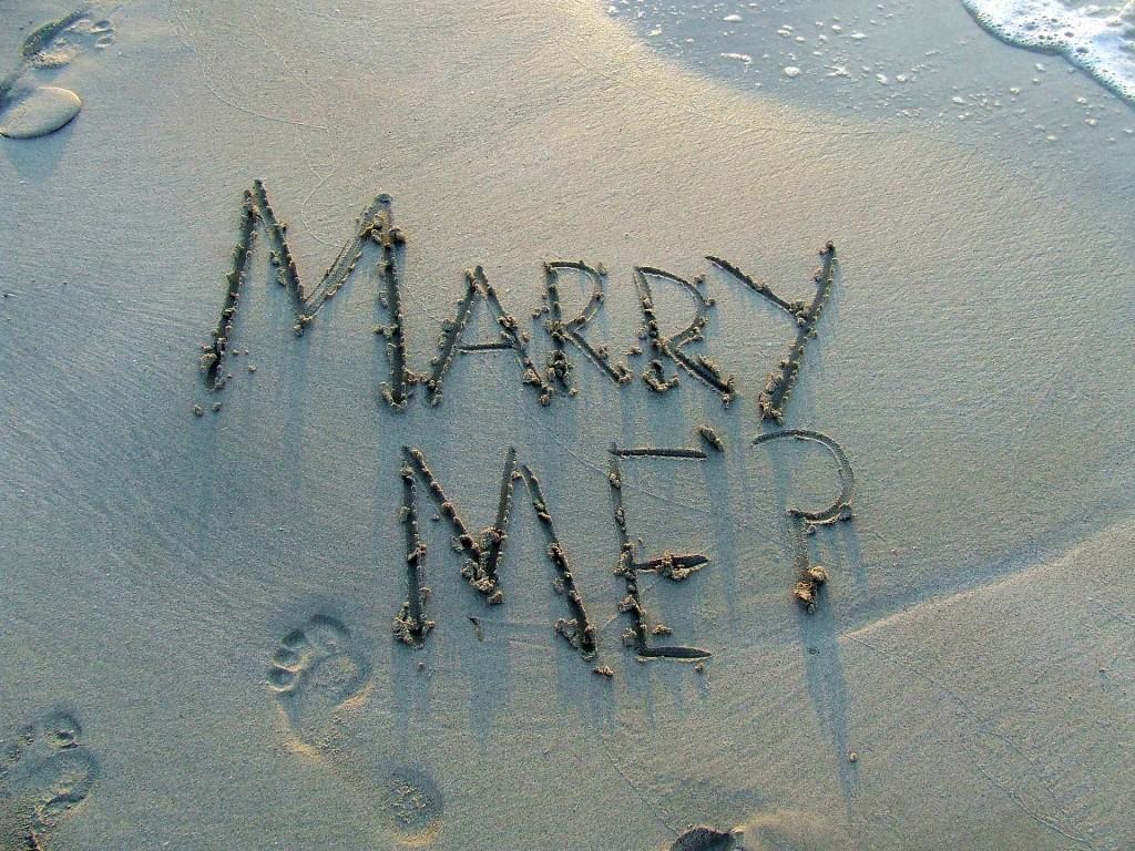 A Romantic Beach Proposal