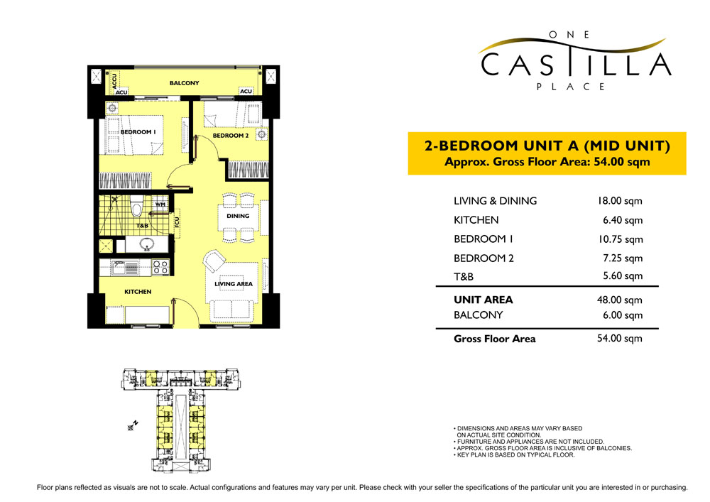 One Castilla Place – 2 Bedrooms, Bare building view