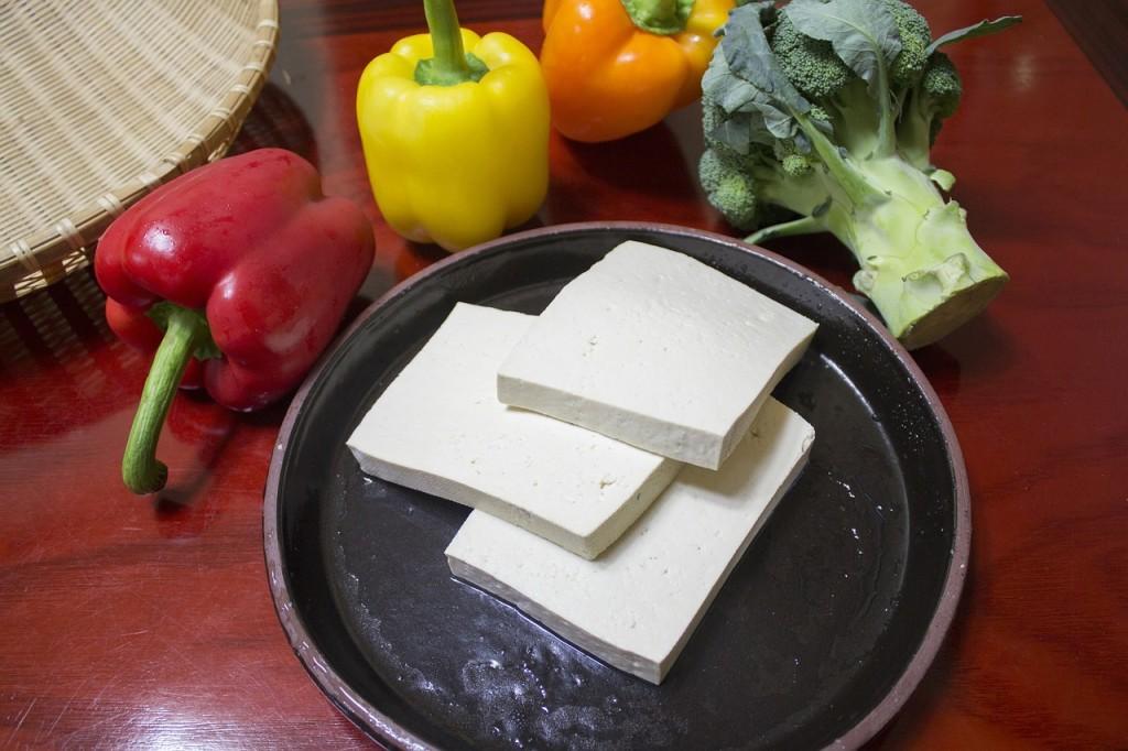 peanut tofu wrap