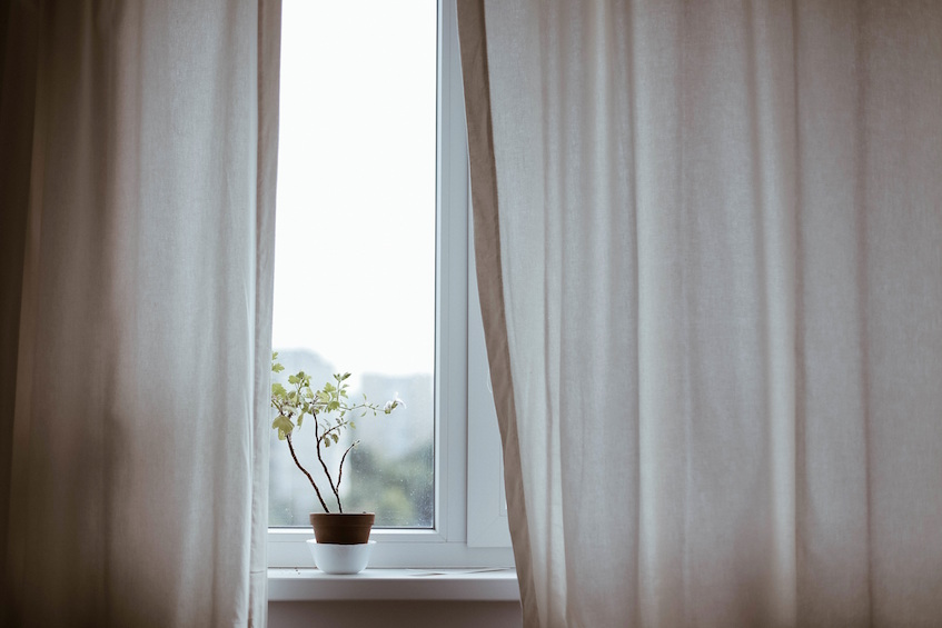 condo renters security leave curtains as they are