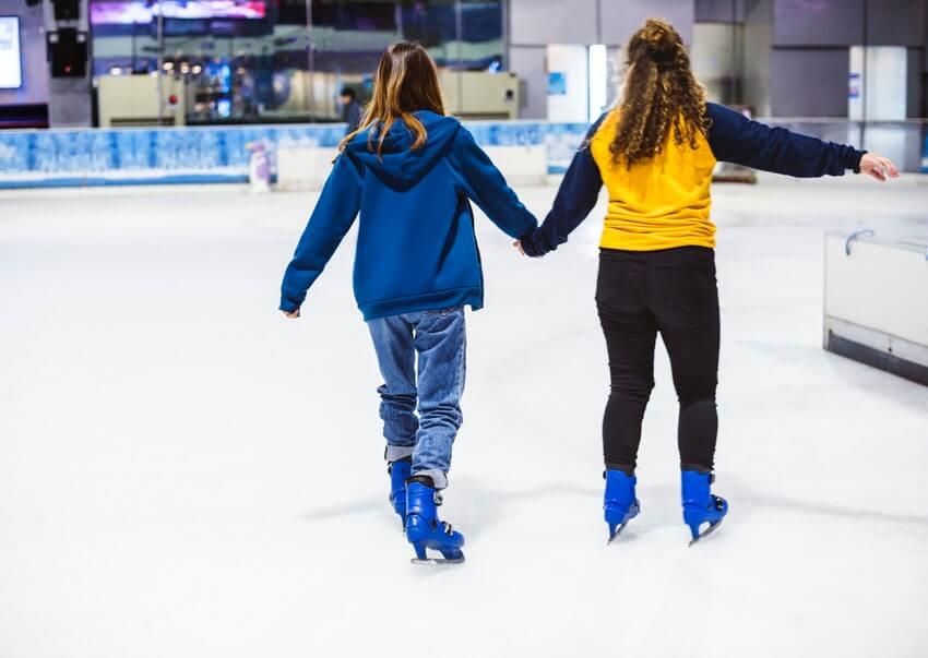 valentine's tandem date ice skating