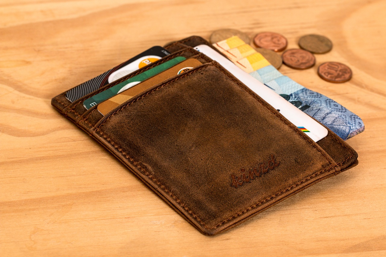 wallet cards coins